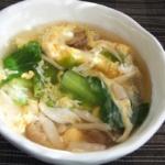 チンゲン菜と卵のスープ