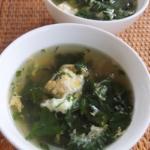 モロヘイヤの卵スープ