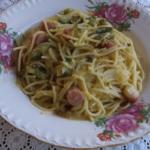 クリームコーンスパゲッティ