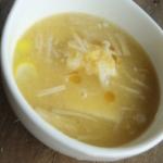 コーンと豆腐の中華風スープ