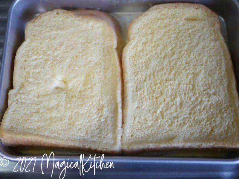 液を吸ったパン