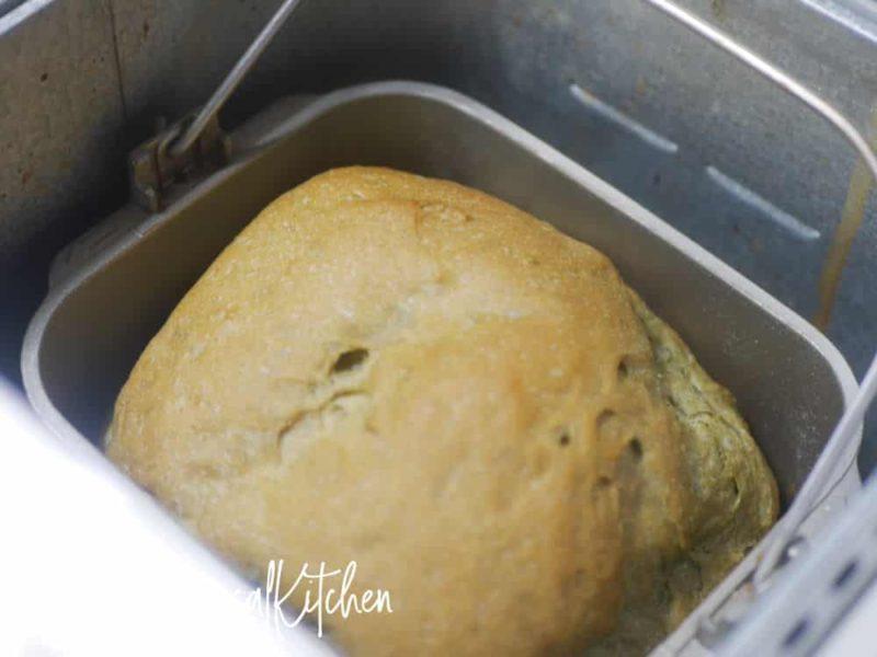 よもぎ食パン焼き上がり
