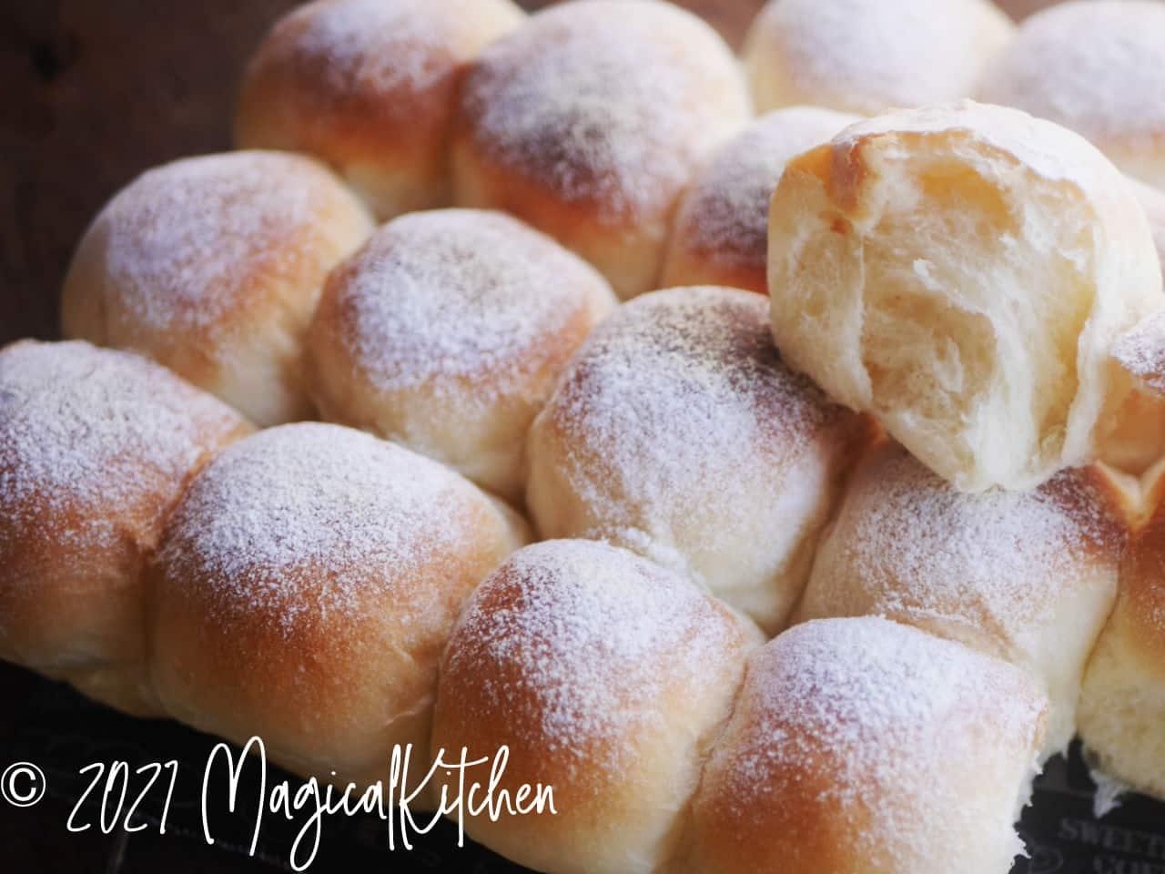 オーブントースターでちぎりパン