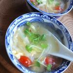 ミニトマトと卵のスープ