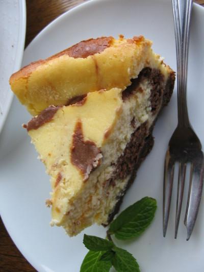 チョコマーブルチーズケーキ