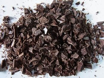 チョコレートを均一に細かく刻む