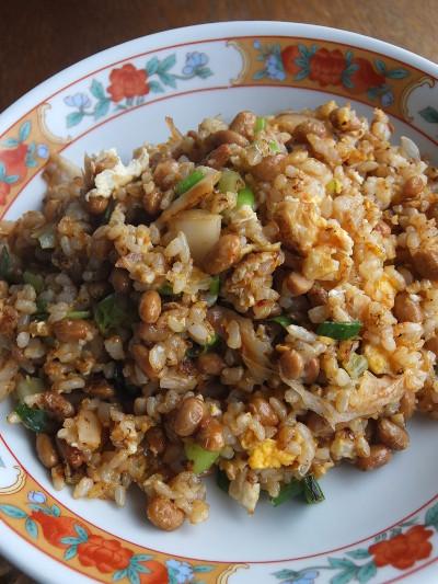 納豆キムチ炒飯