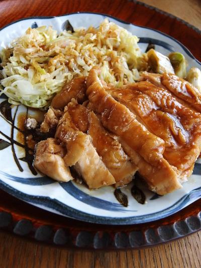 レンジ鶏の照り焼き