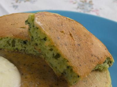 小松菜ホットケーキ断面