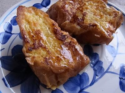 フランスパンでフレンチトースト