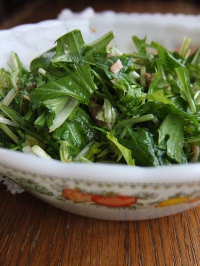 水菜とツナのサラダ
