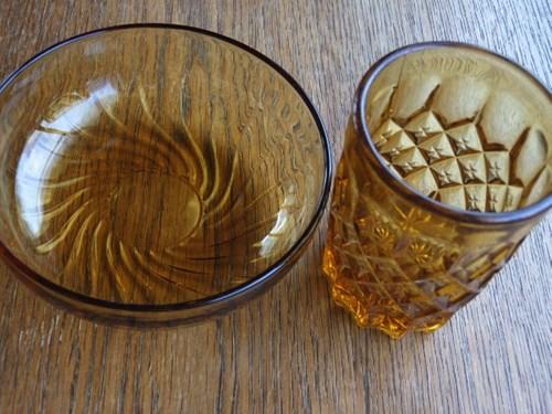 飴色ガラス食器