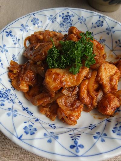 鶏のケチャップ焼き