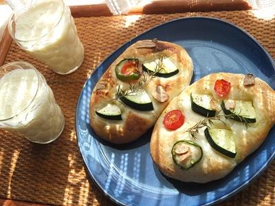 夏野菜のフォカッチャ2
