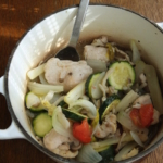 鶏と野菜の蒸し煮