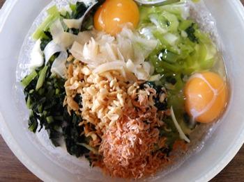 小松菜お好み焼きの具