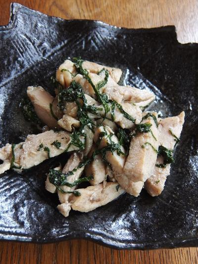 鶏と大葉の塩炒め