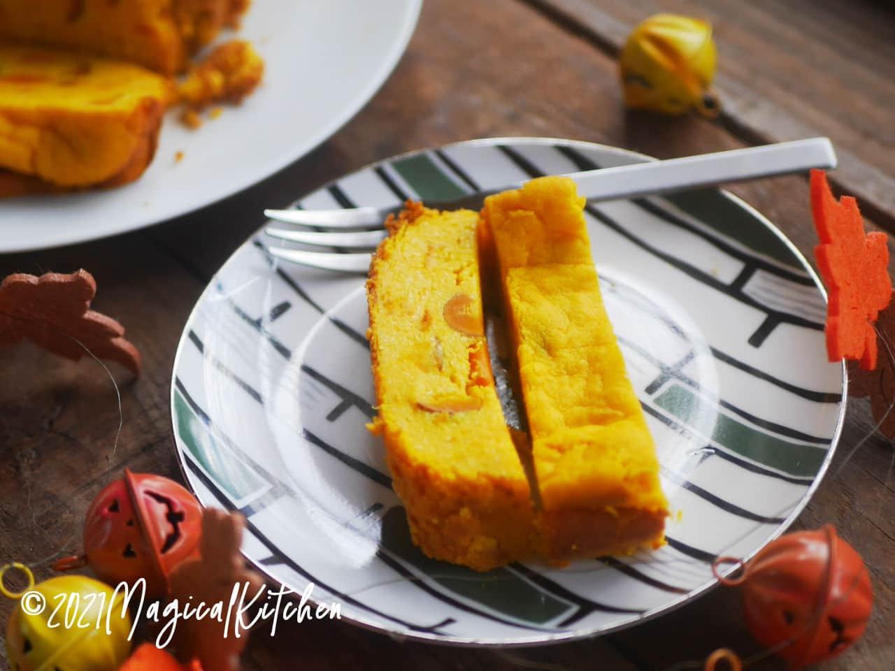 ホームベーカリーでかぼちゃチーズケーキ