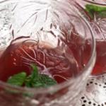 りんごの赤ワインゼリー