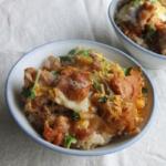 鶏唐揚げ卵とじ丼
