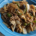 白菜と春雨のピリ辛味噌炒め