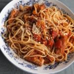 サバ缶トマトパスタ