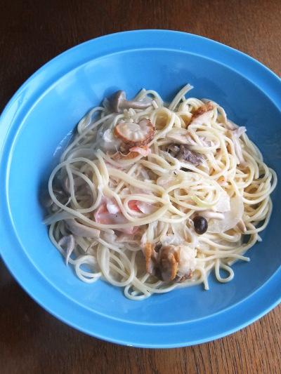 シーフードクリームスパゲッティ