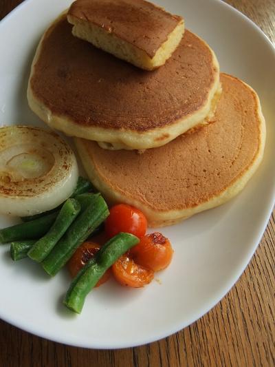コーンミールパンケーキ