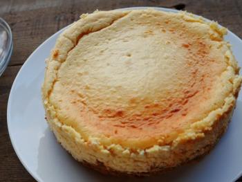 豆腐チーズケーキ焼き上がり