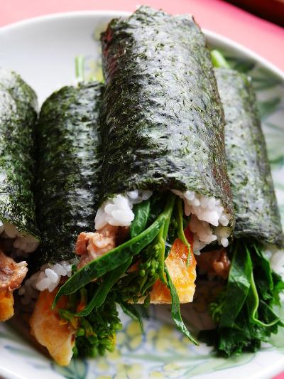 生姜焼きのハーフ巻き寿司