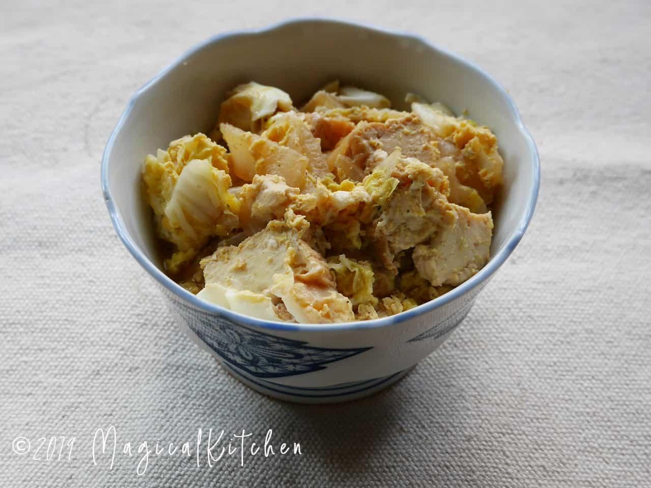 白菜と厚揚げの卵とじ