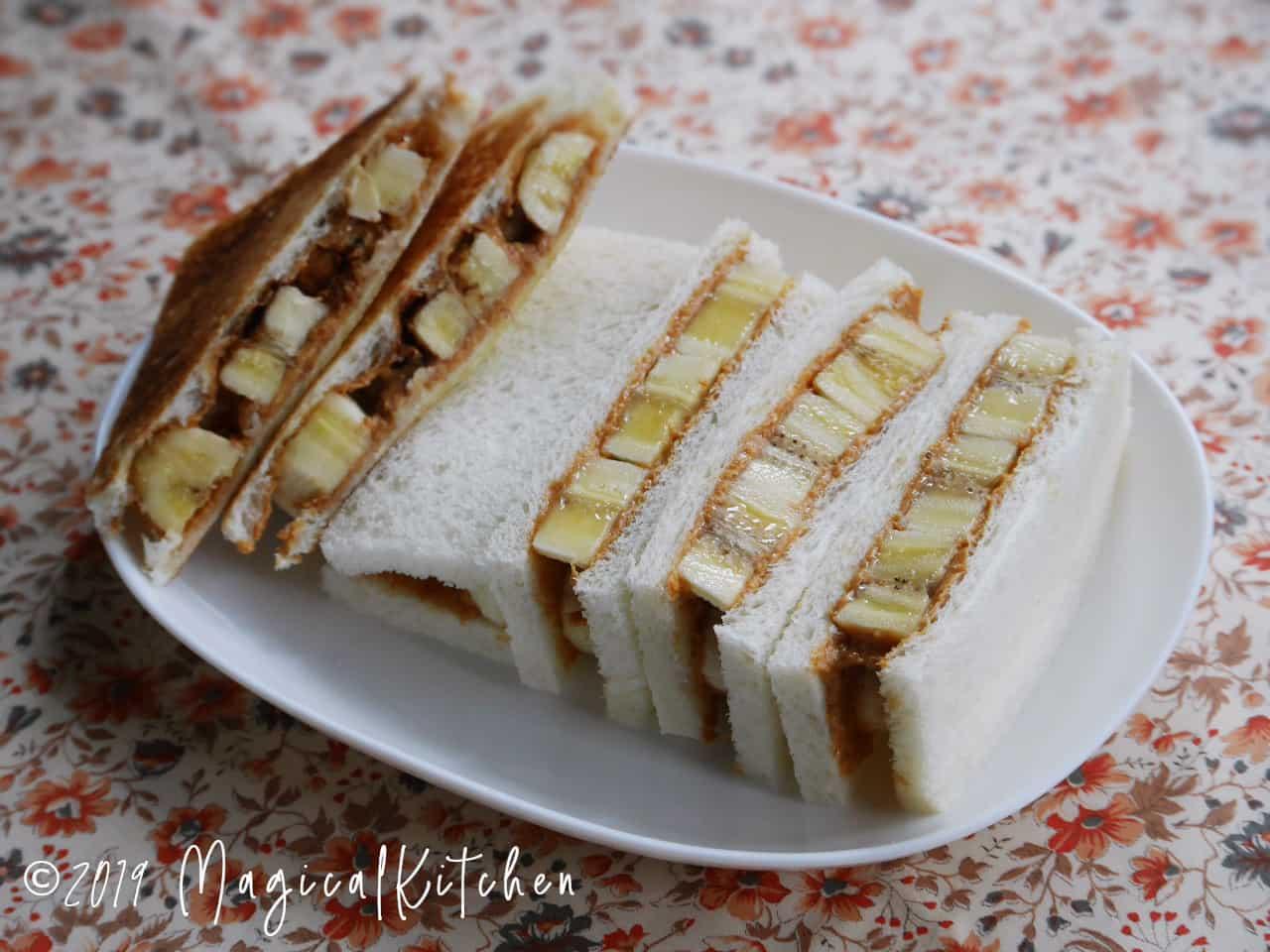 ピーナッツバターバナナサンドイッチ