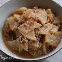 大根と豚ひきの味噌炒め