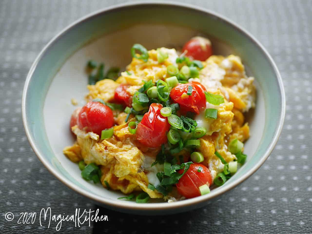 ミニトマトの卵炒め