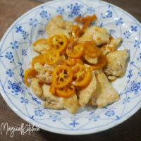鶏胸ソテー金柑ソース