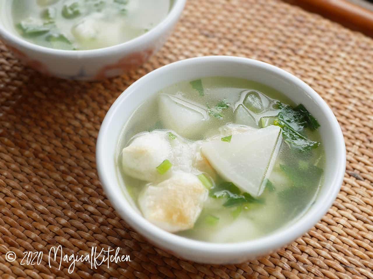 かぶとお餅のスープ