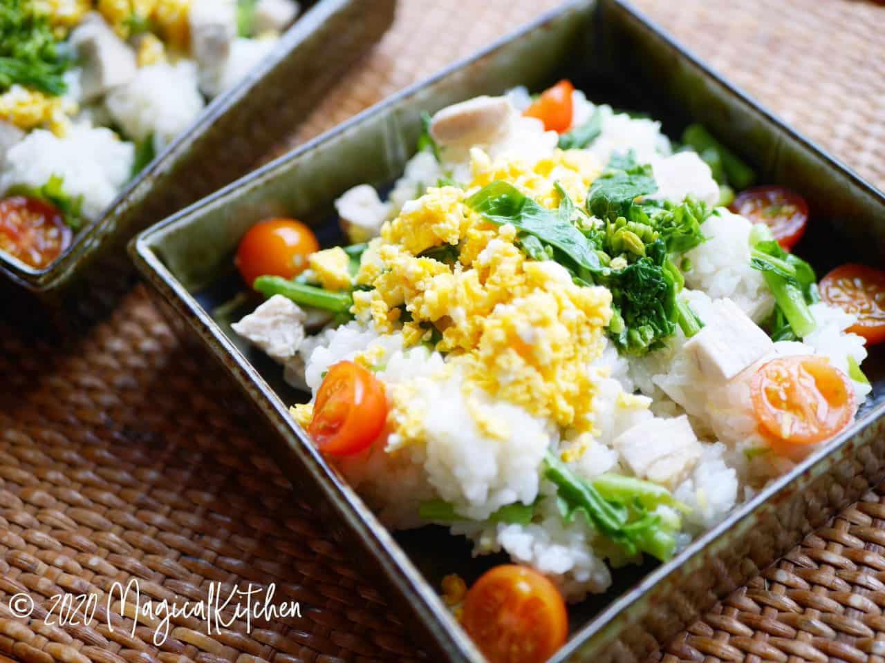 菜の花の洋風寿司