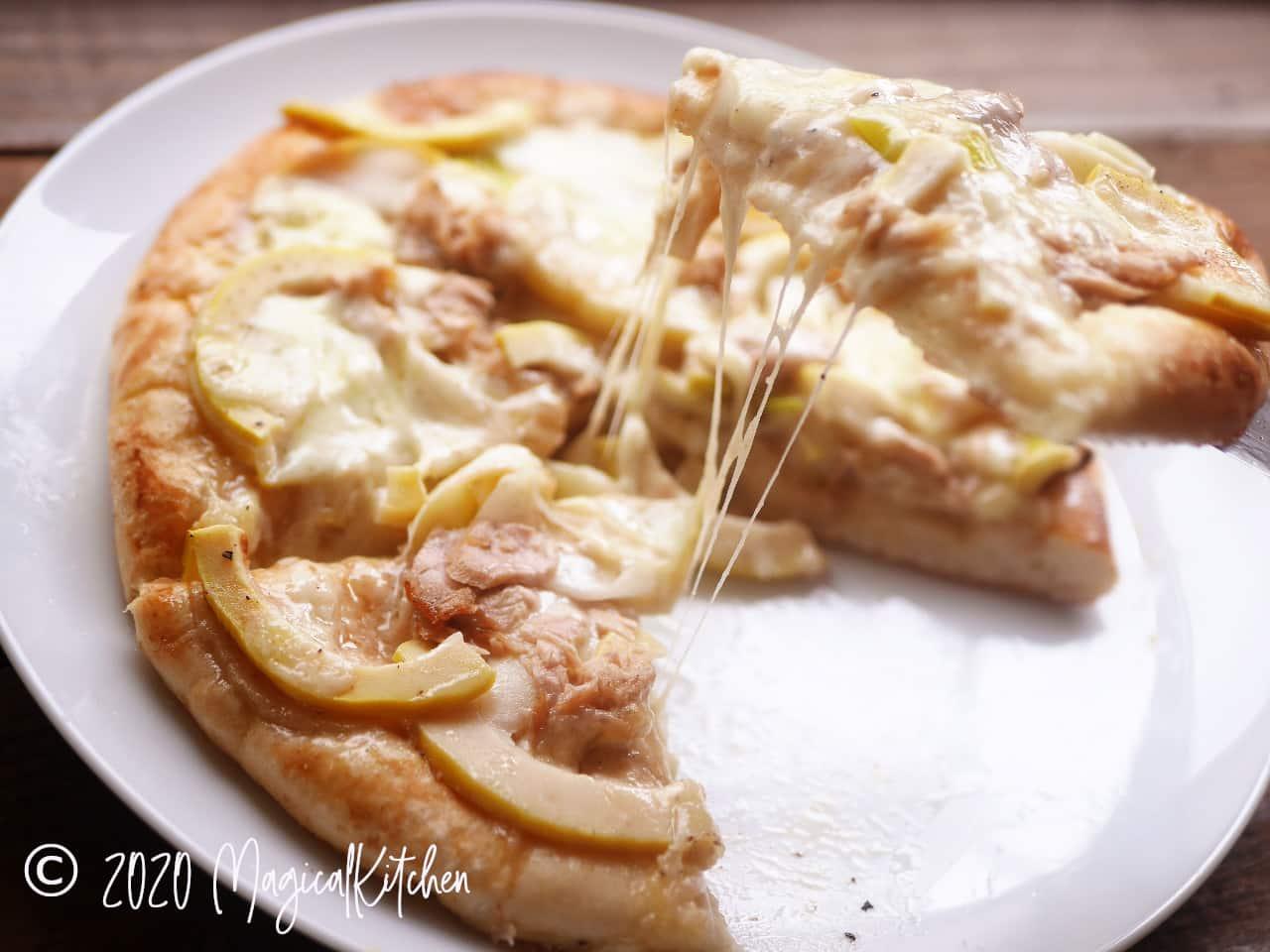 たけのこのネギ味噌和風ピザ