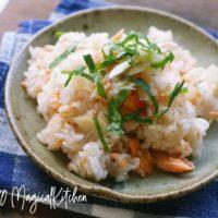 ガリと鮭の混ぜご飯