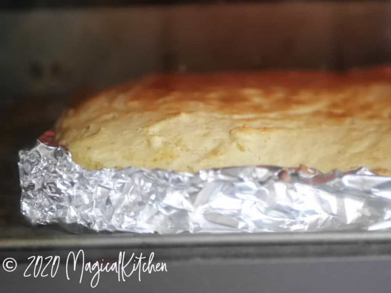 オーブントースターで焼く