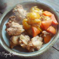 圧力鍋で金柑と鶏手羽元の黒酢煮