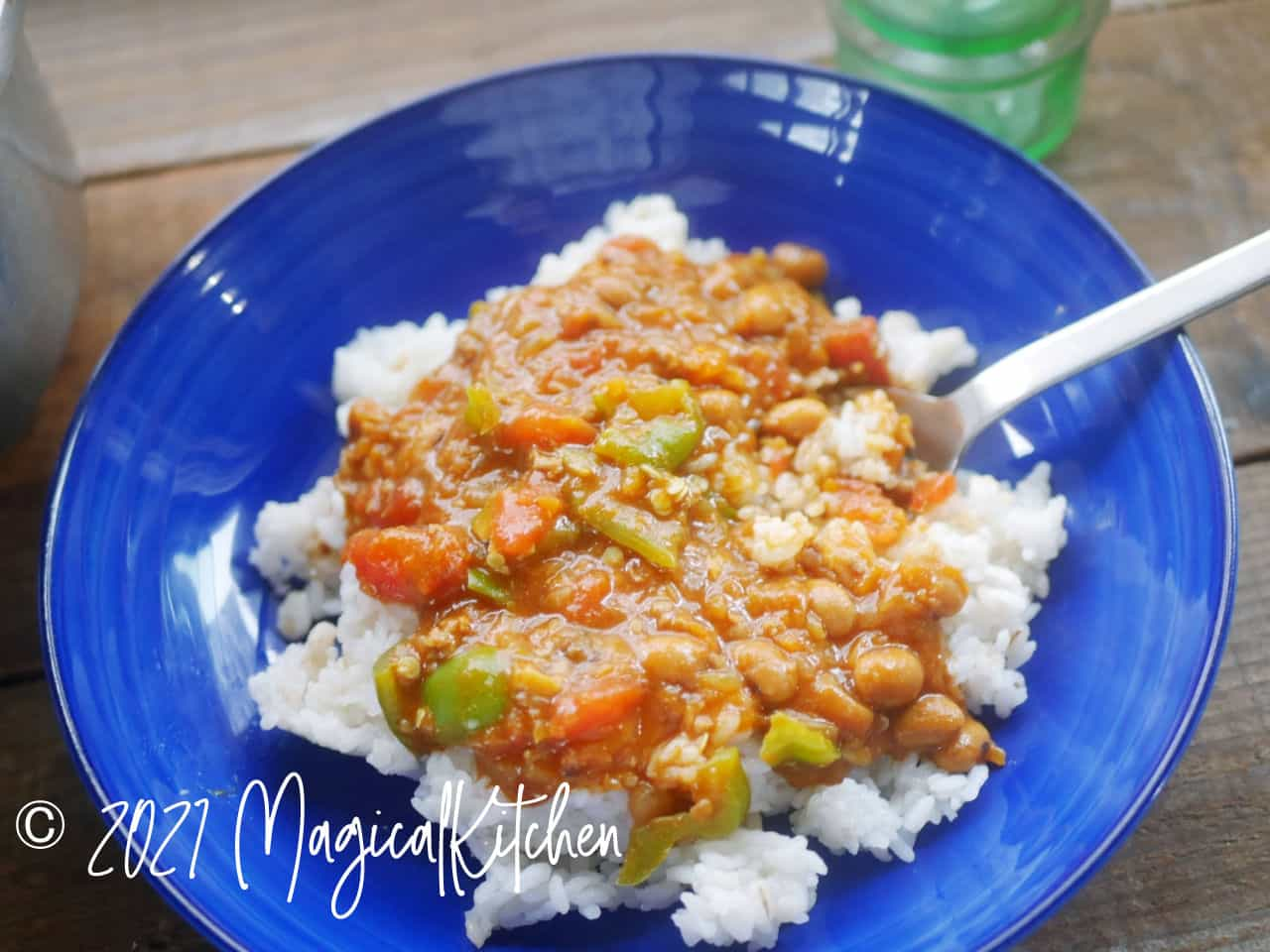 トマト風味の豆カレー